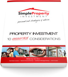 Photo: Book cover with text: 'Property Investment: 10 Essential Considerations.'