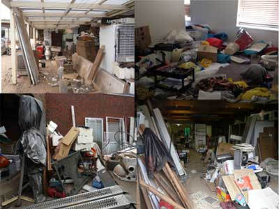 Photo: Trashed homes.