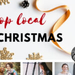 Photo: Text 'shop local this Christmas' and headshots of 10 business owners.